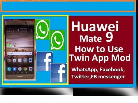 How to use Enable Twins App and Private space on Huawei Mate P9 Urdu/Hindi  2017