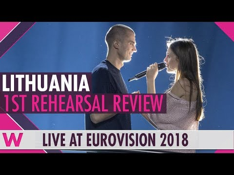 Lithuania First Rehearsal: Ieva Zasimauskaite When We † re Old @ Eurovision 2018 (Review)