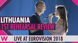 "Lithuania First Rehearsal: Ieva Zasimauskaite ""When We're Old""  @ Eurovision 2018 (Review)"