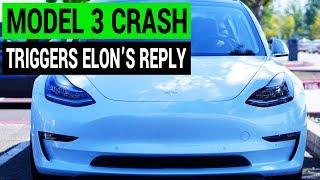 Tesla Model 3 Crash Gets Quick Response from Elon Musk