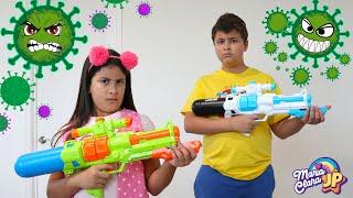 Maria Clara e JP lutam contra os vírus e germes malvados!