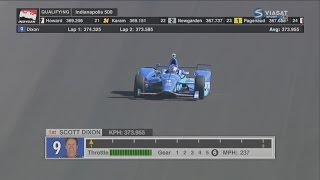 IndyCar Series 2017. Pole Day Indy 500. Scott Dixon Pole Run