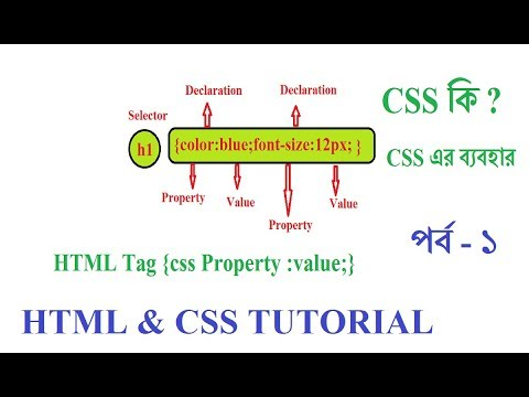 HTML &  CSS  BANGLA TUTORIAL FOR BEGINNERS PART 1 | CSS IN WEB DESIGN thumbnail