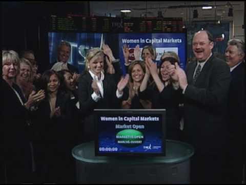 Women in Capital Markets open Toronto Stock Exchange, Thursday May 6, 2010