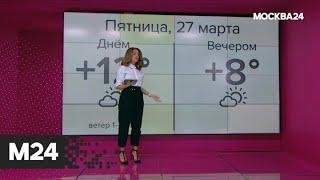 """""""Погода"""": теплая погода ожидается в столице 27 марта - Москва 24"""