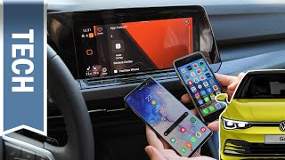 Wir koppeln: Android Auto & Apple CarPlay im VW Golf 8 mit Discover Pro im Test (Wireless + Kabel)