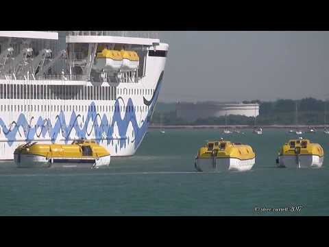 Aidaprima Lifeboat Tender Exercise Southampton Docks 22/5/17