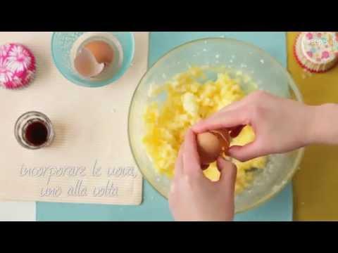 Come preparare le cupcake alla vaniglia e cioccolato