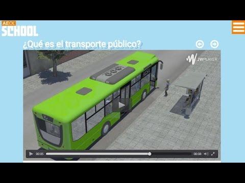 Educación Vial Infantil - Aeol School - Transporte público.