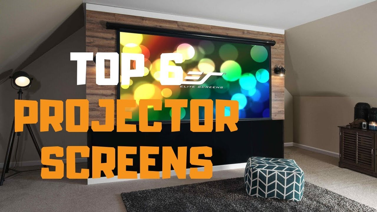 Best Projector Screen in 2019 - Top 6 Projector Screens Review - YouTube