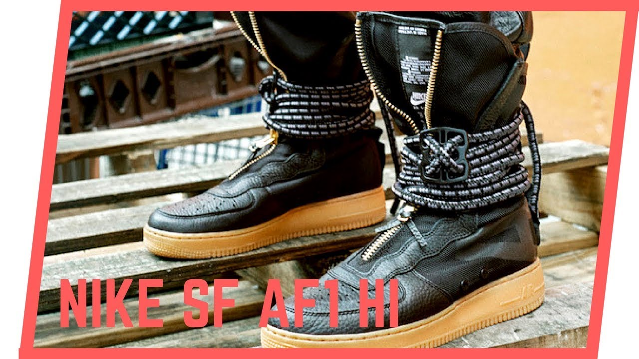 brand new b9563 668e4 Review da Nike Special Field Air Force 1 high | Black/Gum (SF AF1 Hi)