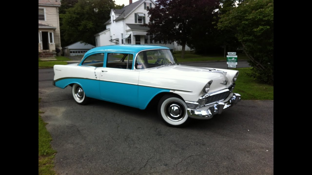 1956 chevy 2 door 210 india ivory and tropical turquoise for 1956 chevy 210 2 door sedan