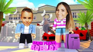 ROBLOX Little Leah Plays - MY REAL LIFE BABY BROTHER IS A BILLIONAIRE - TREASURE HUNT SIMULATOR!!