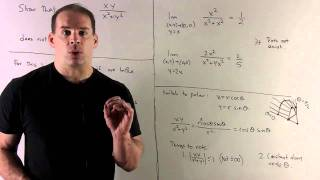 Multivariable Calculus: Show that the limit(0,0) xy/(x^2 + y^2) doe...