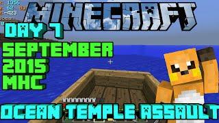 Minecraft Ocean Temple Assault: September 2015 MHC Day 7 Ocean Land