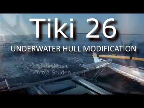 Tiki 26 Catamaran Underwater Hull Modification
