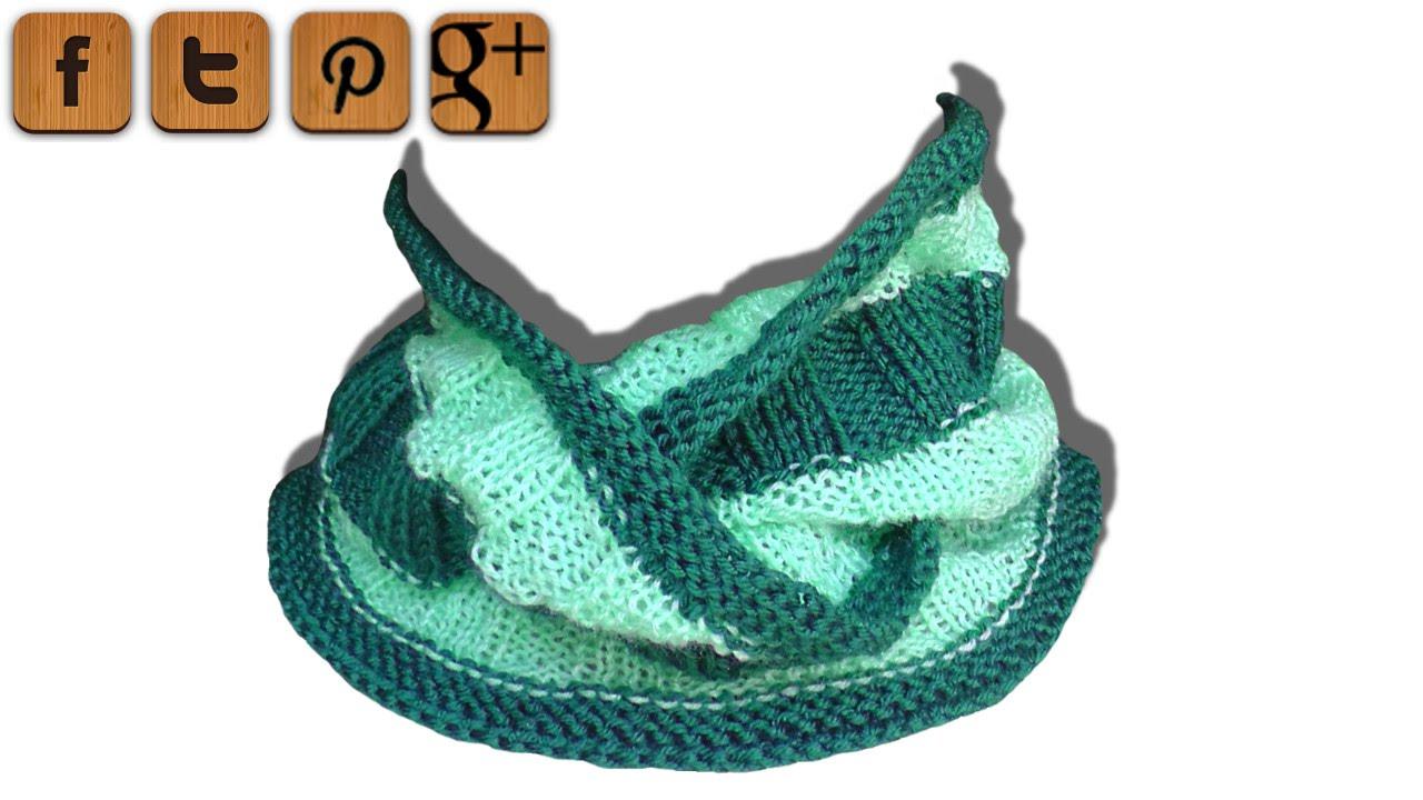 b66abc9e162 Long Basketweave loop scarf knitting tutorial - © Woolpedia - YouTube