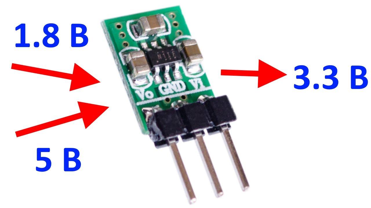 Мини понижающе-повышающий преобразователь 3.3В для WiFi, Bluetooth и прочего