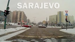 Relaxing drive through Sarajevo in winter | Music