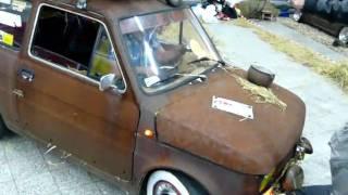 """Zlot samochodów dziwnych - Mały Fiat - """"wiejski tuning :D"""""""