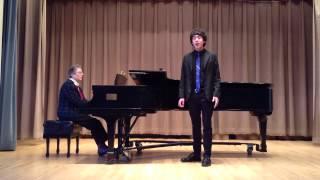 "Clayton Matthews (tenor) sings ""Gia il sole dal Gange"" by Alessandro Scarlatti"