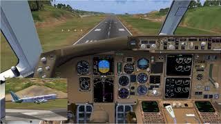 FSX Caribbean Airlines 767 Landing Argyle International