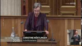 Gedenkrede von Christine Nöstlinger zum 70. Jahrestag der Befreiung des KZ Mauthausen