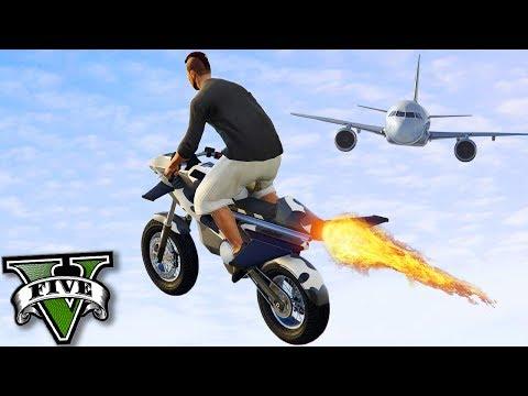 GTA V Online: NOVA MOTO com ASAS QUE VOA - INCRÍVEL!!! (DLC GUNRUNNING)