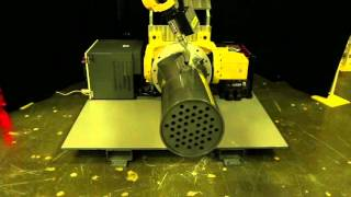 New FANUC Arc Welding Robot with Extra Long Arm Welds A Boiler Tube