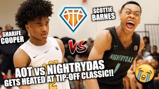 Sharife Cooper & Scottie Barnes FACE OFF IN ATLANTA!! | Nightrydas vs AOT Gets HEATED