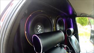 4 15'' 6000w GROUND ZERO subwoofer Wall Build