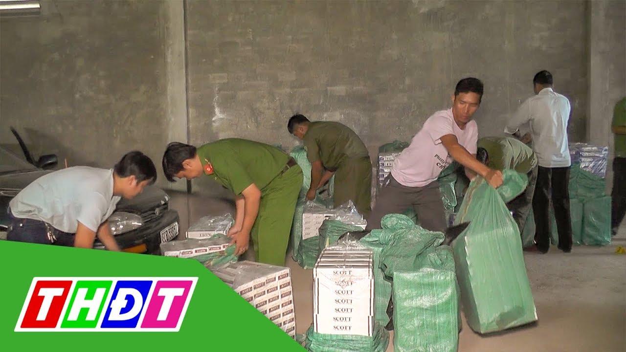 Sóc Trăng: Bắt nhóm người vận chuyển gần 27.000 bao thuốc lá lậu | THDT
