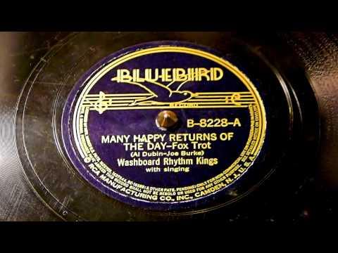 Many Happy Returns Of The Day - Washboard Rhythm Kings (Bluebird)