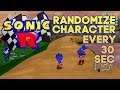 Sonic R (PC) - Random Characters Every 30 seconds.