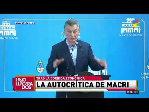 La autocrítica de Mauricio Macri tras la corrida económica