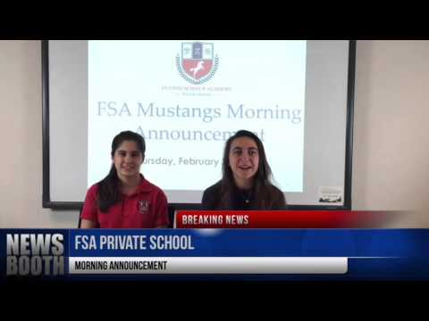 Fulton Science Academy Private School Morning Announcement Thursday February 25 2016