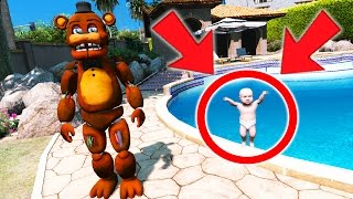 WITHERED FREDDY FINDS AN ORPHAN BABY! (GTA 5 Mods For Kids FNAF Funny Moments) thumbnail