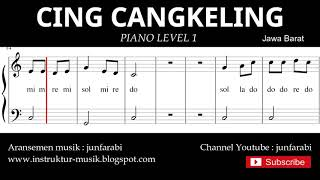 not balok cing cangkeling - piano level 1 - lagu daerah jawa barat - do re mi / sol mi sa si