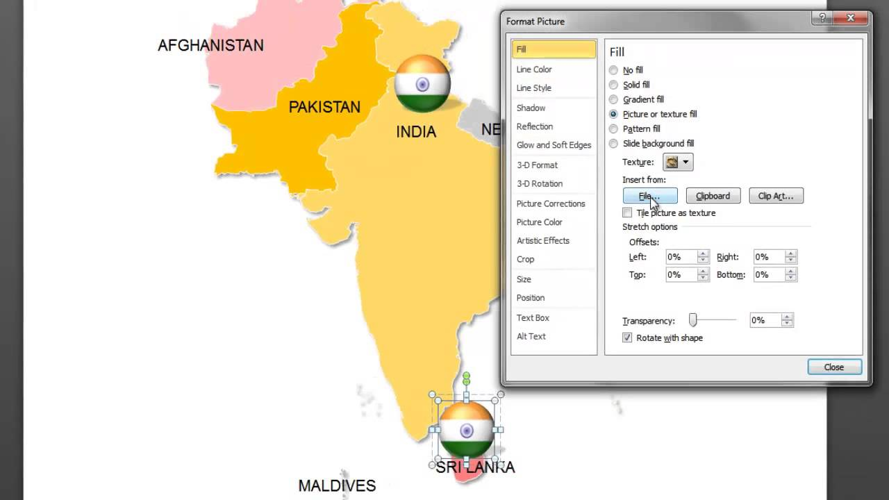 PowerPoint Map of South Asia: How to insert flag icons on connect map, line map, find map, read map, map with inset map, search map, create map, move map, change map, legend on a map, view map, make your own wedding map, data map, inner map, esc map, open map, locate map, add map, locator map,