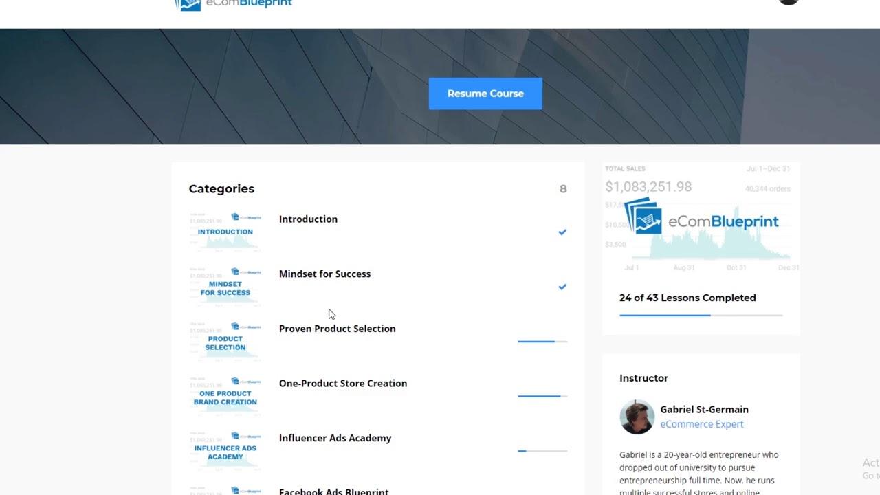 eCom Blueprint Review UPDATED 2019 (Gabriel Germain) | eCom Blueprint  Discount Coupon Code Scam?