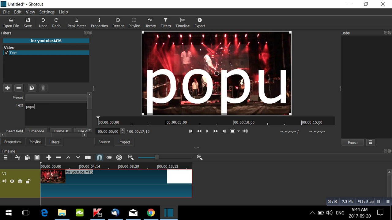 Adding Text in Shotcut - Free Video Editor