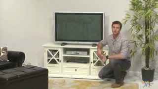 The Hampton 55 Inch TV Stand - White - Product Review Video