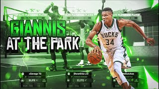 Two 99 overall Giannis in the park go at it and you will never believe what happen 😱😱