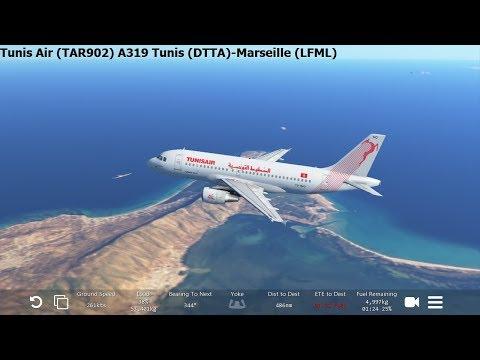 [Infinite Flight Global] Tunisair (TAR902) A319 Tunis-Marseille