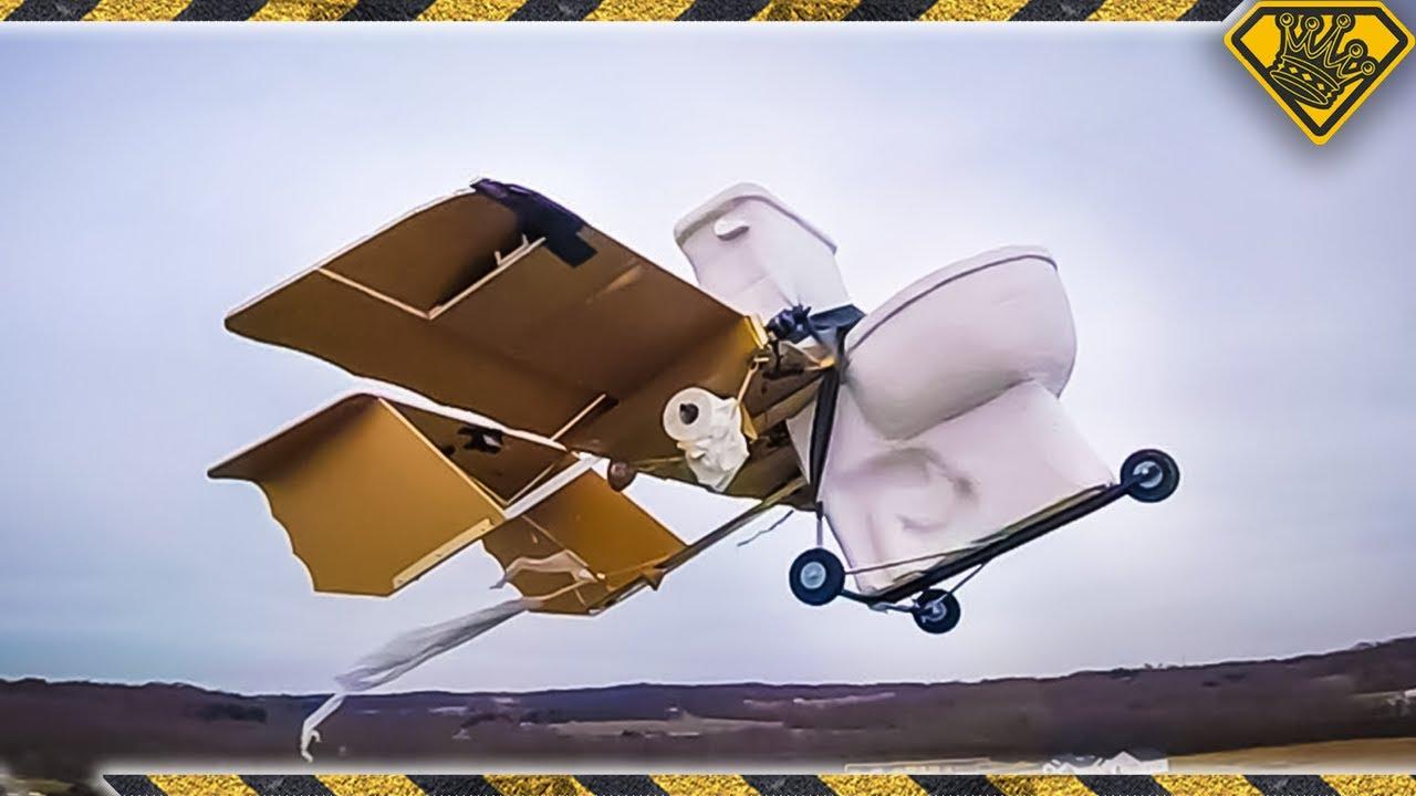 Making a Flying Foam Toilet