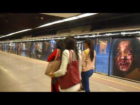 Pari Movie || Delhi Metro || Train Wrap || Line 2 || Jahangirpuri To Huda City Center