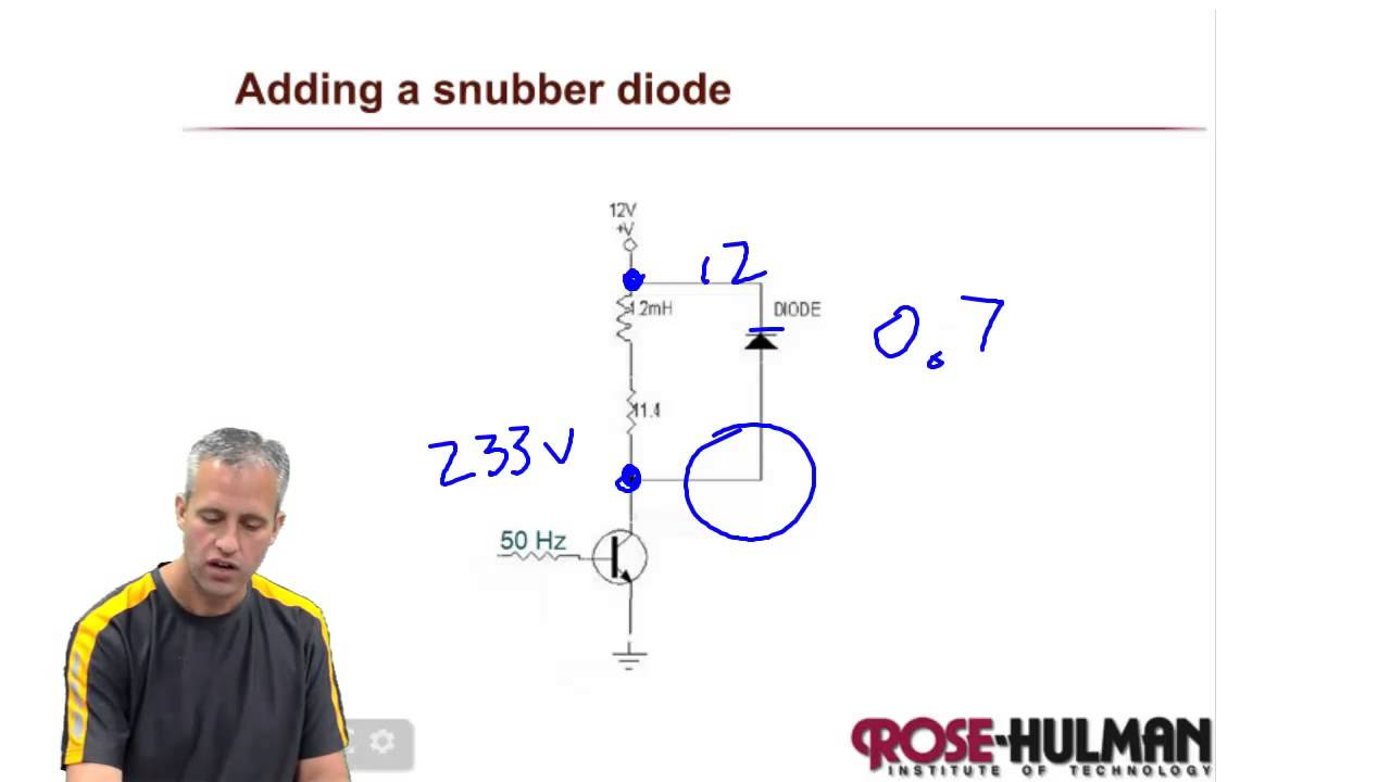 Me430 Snubber Diodes Youtube Rc Circuits Design Usage Electronics Basics