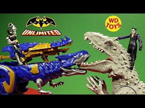 New Batman Unlimited Cyberex Vs Joker & Indominus Rex Jurassic World Unboxing - WD Toys