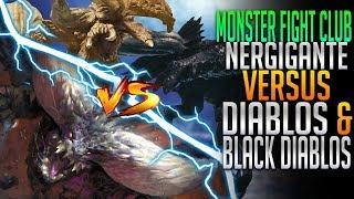 Nergigante VS Diablos & Black Diablos! Monster Hunter World PC Fight Club