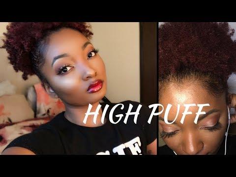 High Puff On Short Natural Hair